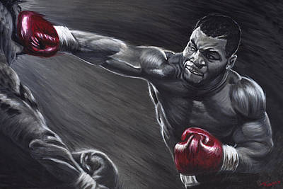 Knockout Painting - Mike Tyson by Travis Knight