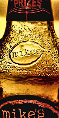 Photograph - Mike's Bottle Art With Label by Bill Kesler