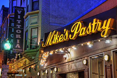 Mike's Pastry Shop - Boston Art Print by Joann Vitali