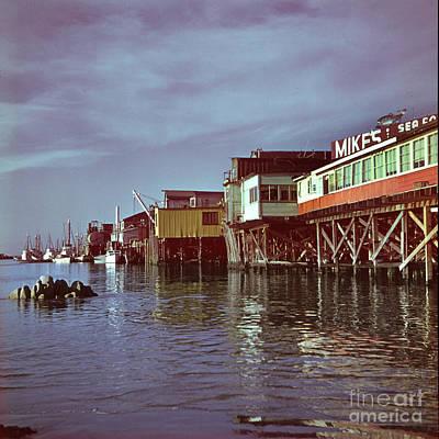 Photograph - Mikes Sea Food Fisherman Wharf Monterey Circa 1960 by California Views Mr Pat Hathaway Archives