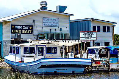Photograph - Mikey's On The Bayou - Coastal - Boats by Barry Jones