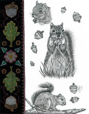Abenaki Wall Art - Drawing - Miko by Christine Matha