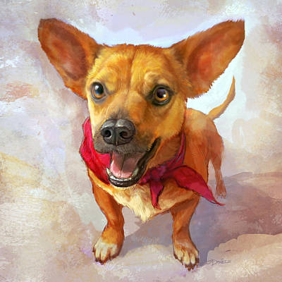Corgi Painting - Milagro by Sean ODaniels