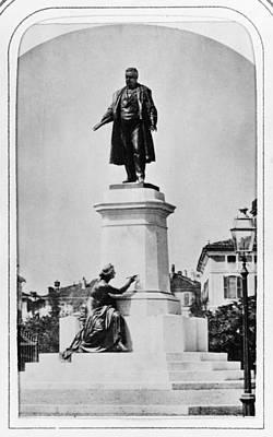 Photograph - Milan Cavour Statue, C1869 by Granger