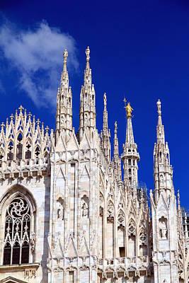 Photograph - Milan Duomo Closeup by Valentino Visentini