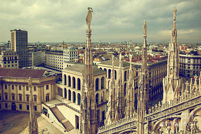 Photograph - Milan Italy View On Royal Palace  by Michal Bednarek