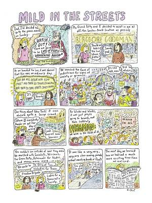 Cities Drawing - Mild In The Streets by Roz Chast