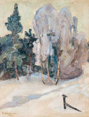 Pekka Wall Art - Painting - Mild Winter Day In Tuusula by Celestial Images