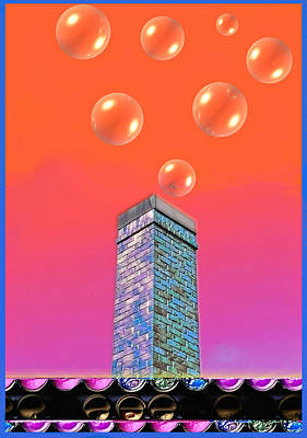 Mildrena's Chimney - Bubbles Art Print by Wendy J St Christopher
