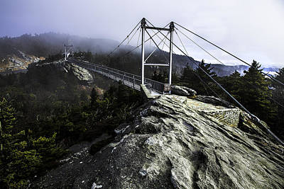 Mile High Bridge-grandfather Mountain Art Print