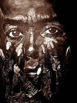 Miles Davis Oil Painting - Miles Ahead by Michael Mahue Moore