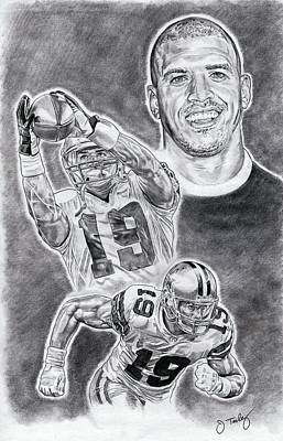 Austin Drawing - Miles Austin by Jonathan Tooley