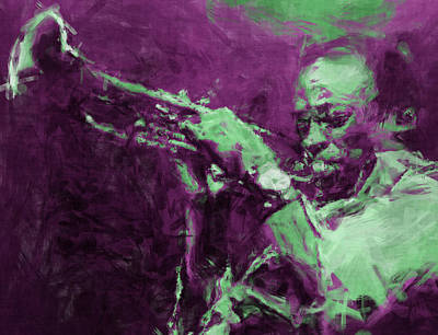Trumpet Digital Art - Miles Davis Abstract by David G Paul