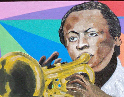 Painting - Miles Davis by Angelo Thomas