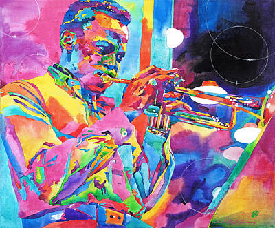 Jazz Legends Wall Art - Painting - Miles Davis Bebop by David Lloyd Glover