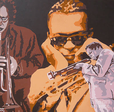 Miles Davis I Art Print by Ronald Young