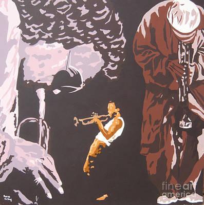 Miles Davis II Art Print by Ronald Young