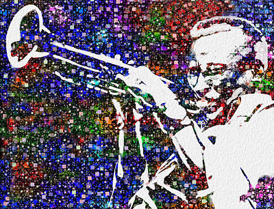 Fusion Digital Art - Miles Davis by Jack Zulli