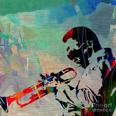 Jazzman Mixed Media - Miles Davis Jazzman by Marvin Blaine