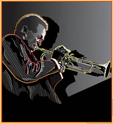 Miles Davis Legendary Jazz Musician Art Print by Larry Butterworth