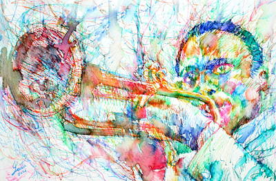 Painting - Miles Davis Playing by Fabrizio Cassetta