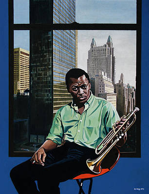 Painting - Miles High - Miles Davis by Jo King