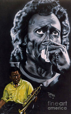 Mixed Media - Miles Davis Jazz King by Thomas J Herring