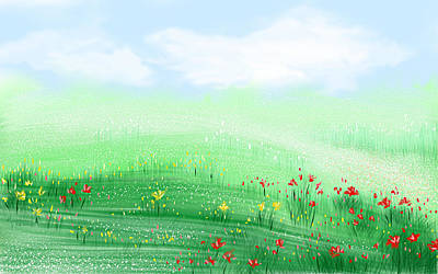 Sprout Painting - Miles Of Spring by Kume Bryant