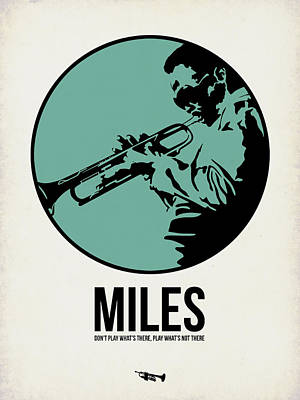 Band Digital Art - Miles Poster 1 by Naxart Studio
