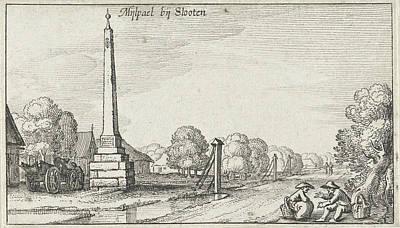 Milestone At Locks Print by Claes Jansz. Visscher (ii)