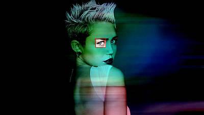Digital Art - Miley Cyrus by Marvin Blaine