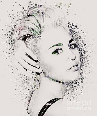 Miley Cyrus Art Print by Gillian Singleton