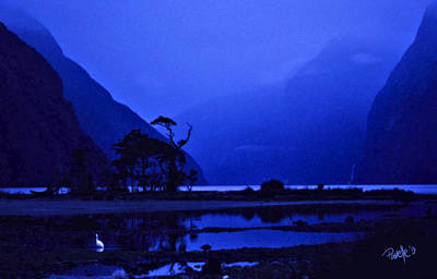 Digital Art - Milford Sound Twilight - New Zealand by Jim Pavelle