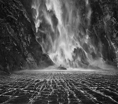 Milford Sound Waterfalls Art Print