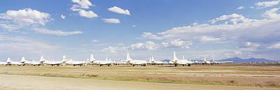 Military Airplanes At Davismonthan Air Art Print by Panoramic Images