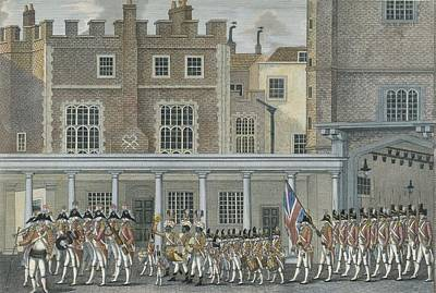 Serpent Drawing - Military Band At St. James Palace, Late by English School