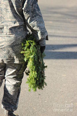 Deployment Photograph - Military Christmas  by Tom Gari Gallery-Three-Photography