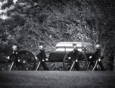 Military Funeral Print by Mark Andrew Thomas
