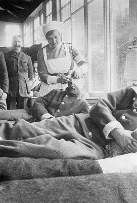 Bandage Photograph - Military Hospital by Library Of Congress