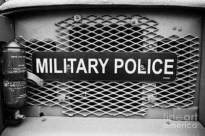 Military Police Sign On Vintage British Army Military Vehicles On Display County Down Northern Irela Art Print by Joe Fox