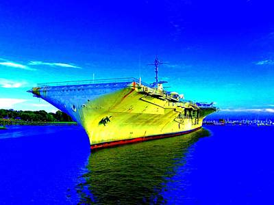 Military Ship 2 Art Print by Ron Kandt
