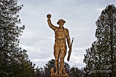 Photograph - Military Soldier Memorial by Ms Judi