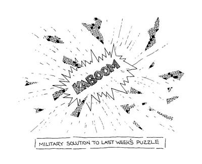 Military Drawing - Military Solution To Last Week's Puzzle by Robert Mankoff