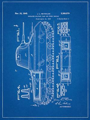 Military Tank Patent Art Print by Decorative Arts