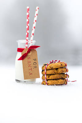 Polkadots Photograph - Milk And Cookies For Santa II by Aldona Pivoriene