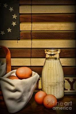 Folk Art Photograph - Milk And Eggs by Paul Ward