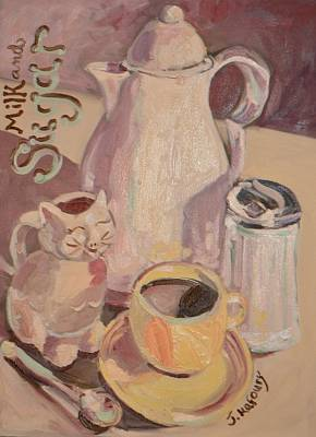 Fiestaware Painting - Milk And Sugar by Jennifer Kafoury