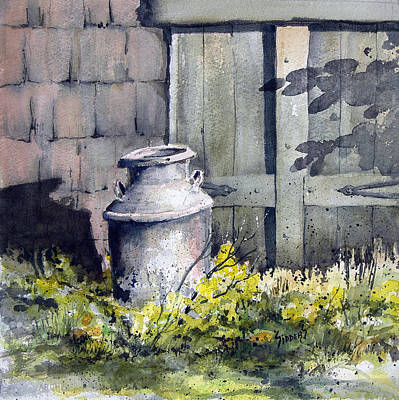 Milk Can Painting - Milk Can by Sam Sidders