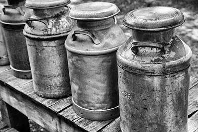 Photograph - Milk Cans by Karol Livote