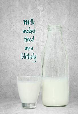Healthy Eating Mixed Media - Milk by Heike Hultsch
